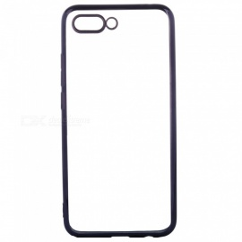 ASLING Transparent Back Case for Huawei Honor 10 Electroplating TPU Soft Cover Protector