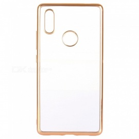 ASLING Transparent Back Case for Xiaomi 8 SE Electroplating TPU Soft Cover Protector - Gold