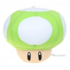 Cute Super Mario Mushrooms Figure Foam Pellets Padding Doll with Suction Cup - Green