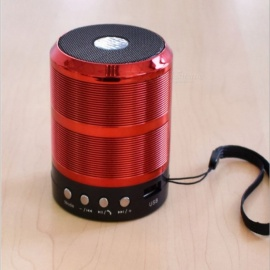 Small Bluetooth Speaker with IF Card / U Disk, FM Radio for Mobile Phone - Red