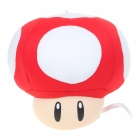 Cute Super Mario Mushrooms Figure Foam Pellets Padding Doll with Suction Cup - Red