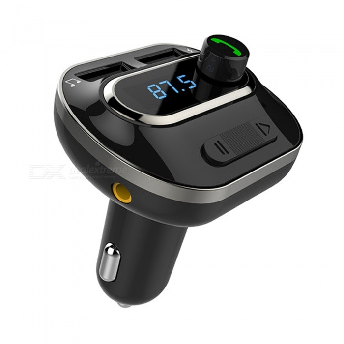 New T19 Car Bluetooth Speakerphone Car Charger Car Bluetooth MP3 Player Mobile Phone Charger ...
