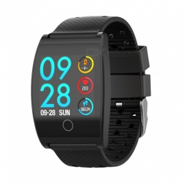 QS05 Smart Bracelet Touch Color Screen Sports Wrist Watch Heart Rate Blood Pressure Monitoring - Black