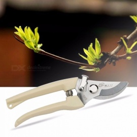 Garden Secateurs Scissors Shears Grafting Tool, Fruit Tree Pruning Shears, Easy Bonsai Pruner - Economical Version 15cm-19.9cm/White