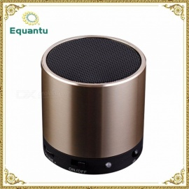 SQ200 Portable Mini Metal Remote Control Column Bluetooth Speaker, Wireless Sound Box Subwoofer For Home Black