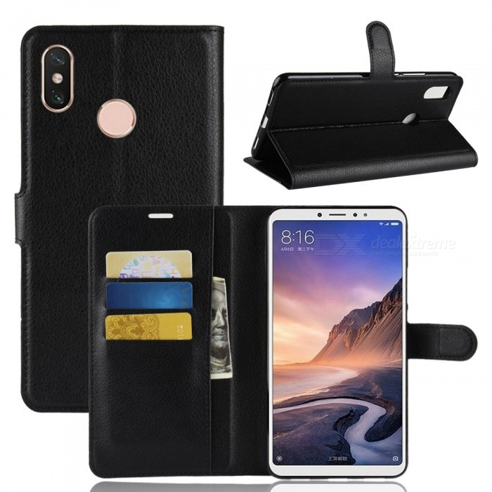 sports shoes acfef 5c425 Naxtop Phone Wallet Flip Leather Holder Cover Case for Xiaomi Mi Max 3