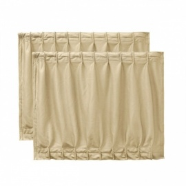 50S 50 x 39cm Car Foldable Nylon Sunshade Visor Window Curtain UV Protection Beige - Beige