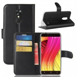 Naxtop Phone Wallet Flip Leather Holder Cover Case for Blackview A10 - Black