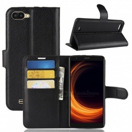 Naxtop Phone Wallet Flip Leather Holder Cover Case for Blackview A20 - Black