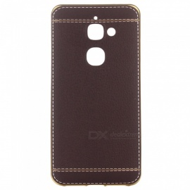ASLING Leather Pattern Electroplating TPU Phone Case For LeTV Le 2 X526 - Black