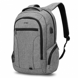 DTBG 17.3 Inch Stylish Travel Business Laptop Backpack with USB Charging Port, Anti-theft Pockets for Women Men - Grey