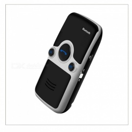 VRrobot A3-BT Solar Wireless Bluetooth Handsfree Car Kit, Two Phone Connected Automatic Answer Bluetooth Powered Speakerphone