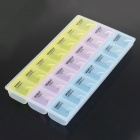 21 Compartment Plastic Storage Medicine Organizer Pill Box