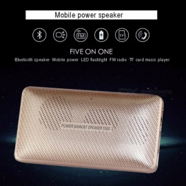 Wireless Bluetooth Speakers Portable Mini Speaker With Mobile Power Wallet Full-Range Speakers Black