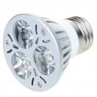 E27 3W 3-LED 260-Lumen 6500K White Light Bulb (220V AC)