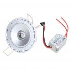 1W 90-Lumen 6500K White LED Ceiling Lamp/Down Light with LED Driver (AC 86~265V)