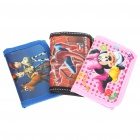 Cute Cartoon Style Nylon Oxford Tri-Fold Wallet (3-Pack/Style Assorted)