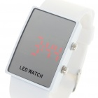 Stylish Digital Red LED Wrist Watch with Date Display - White (1 x 568)