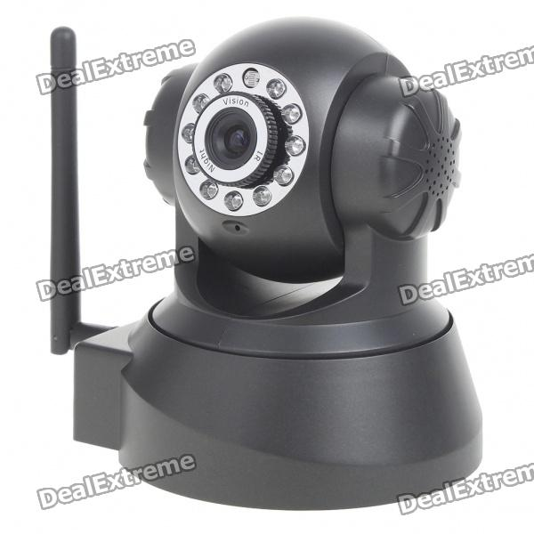 300KP IP Wireless WIFI/LAN Network Surveillance Pan/Tilt Camera with Night Vision