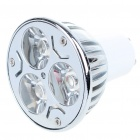 GU10 3W 240-260LM White 3-LED Light Bulb (220V)