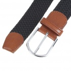 Fashion Elastic Weave Belt - Black