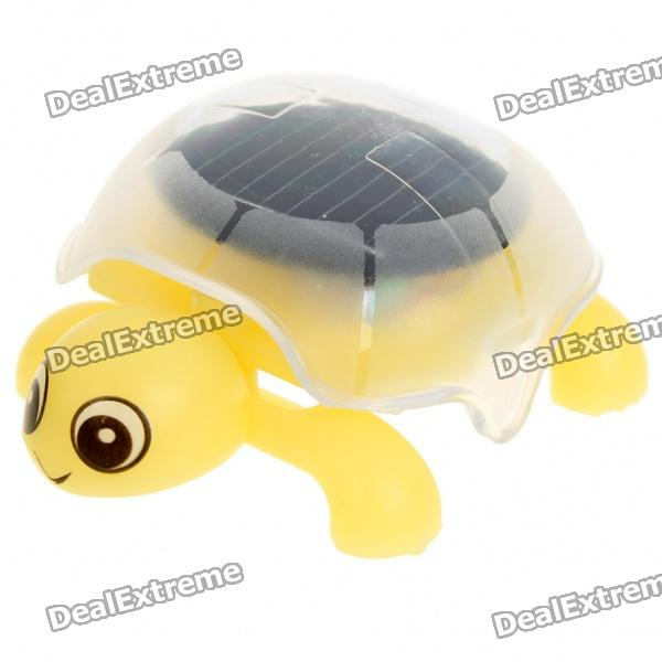 Solar Powered Crawling Tortoise Educational Toy - Yellow bilingualism as teaching aid