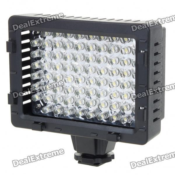76-LED 5400K Video Light with 3 Filters for Camera/Camcorder (4 x AA)