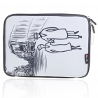 "Trendy Protective Soft Bag with Zipped Close for 10"" Laptop (Black + Grey)"