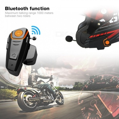 BT - S2 1000m Bluetooth Helmet Headset, Motorcycle Intercom - EU Plug