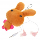Cute Rabbit Figure Noise Isolation In-Ear Earphone w/ 3.5mm Adapter - Brown (2.5mm Jack/50CM-Cable)