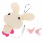 Cute Rabbit Figure Noise Isolation In-Ear Earphone w/ 3.5mm Adapter - Yellow (2.5mm Jack/50CM-Cable)