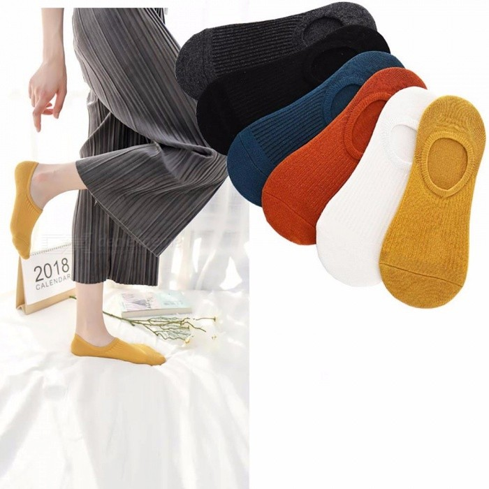 5 Pairs = 10 Pieces Mens Invisible Cotton Socks Mens Boat Socks Low Waist Mesh Silicone Non-slip Short Socks Calcetines Hombre Underwear & Sleepwears
