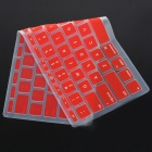 "Teclado de silicona cubierta protectora para Apple Macbook Air de 11,6 ""- Rojo"