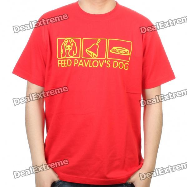 The Big Bang Theory Series Feed Pavlov's Dog Design Cotton T-shirt - Red (Size M) the big bang theory series the flash design cotton t shirt red size m