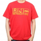 The Big Bang Theory Series Feed Pavlov's Dog Design Cotton T-shirt - Red (Size XXL)
