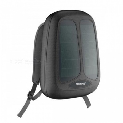 [Pre-sale] Hanergy Solar Energy Charging Backpack with Built-in Solar Panel, 4950mAh Battery Charger Business Travel Bag - Black
