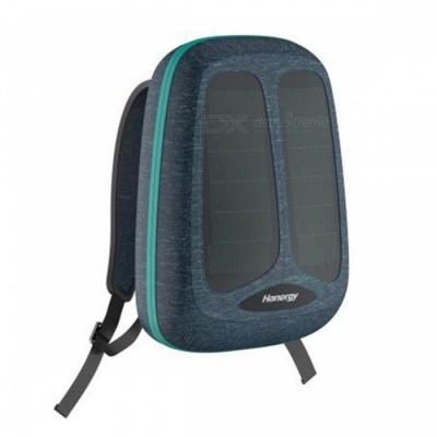 [Pre-sale] Hanergy Solar Energy Charging Backpack with Built-in Solar Panel, 4950mAh Battery Charger Business Travel Bag - Green
