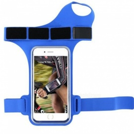 Waterproof Smartphone Armband, Running Jogging Sports Arm Band Belt Pouch Bag, Mobile Phone Wrist Case Cover Blue