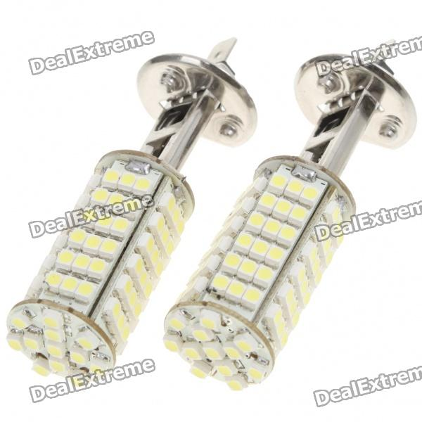 H1 5W 6500K 460-Lumen 102x3528 SMD LED White Fog Lights for Car (Pair/DC 12V) new h1 55 w 3000 k super bright car yellow light bulbs pair dc 12 v free shipping
