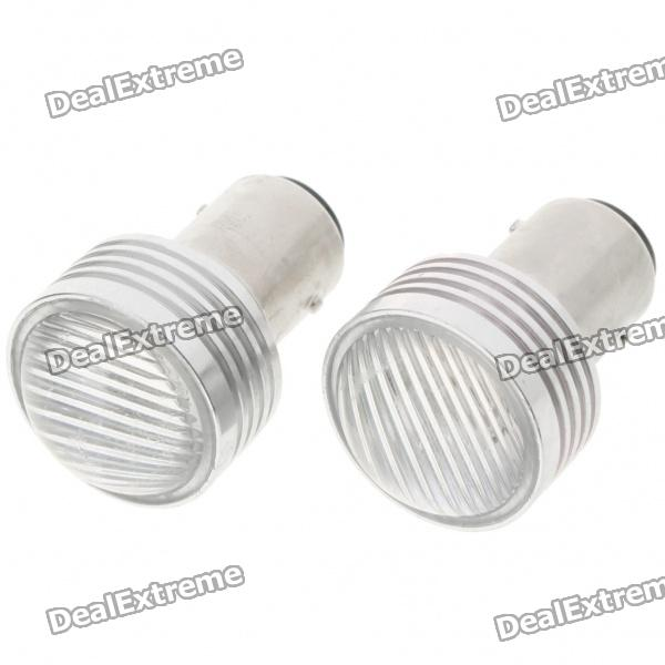 1157 3W Car Brake/Tail/Turning Signal Red Light Bulbs (Pair/12V) s25 2w 180lm red led car brake turning reverse light bulbs pair dc 12v