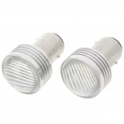 1157 3W Car Brake/Tail/Turning Signal Red Light Bulbs (Pair/12V)