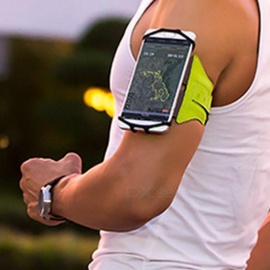 VUP Universal Arm Bag Pack Armband Package Holder, Outdoor Running Cycling Sports Mobile Phone Bag Black