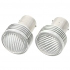 1156 3W Car Brake/Tail/Turning Signal Red Light Bulbs (Pair/12V)