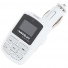 "1.0"" LCD Bluetooth V2.1 MP3 Player FM Transmitter with Caller ID Handsfree - White (SD/USB/12V)"