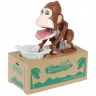 Robotic Chimps Money Coin Bank - Coffee (2 x AA)