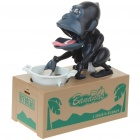 Robotic Chimps Money Coin Bank - Black (2 x AA)