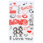Protective Backside Sticker for Samsung P1000 - I Love You (White + Red)