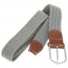 Fashion Elastic Weave Belt - Grey
