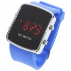 Stylish Digital Red LED Wrist Watch with Date Display - Blue (1 x CR2016)