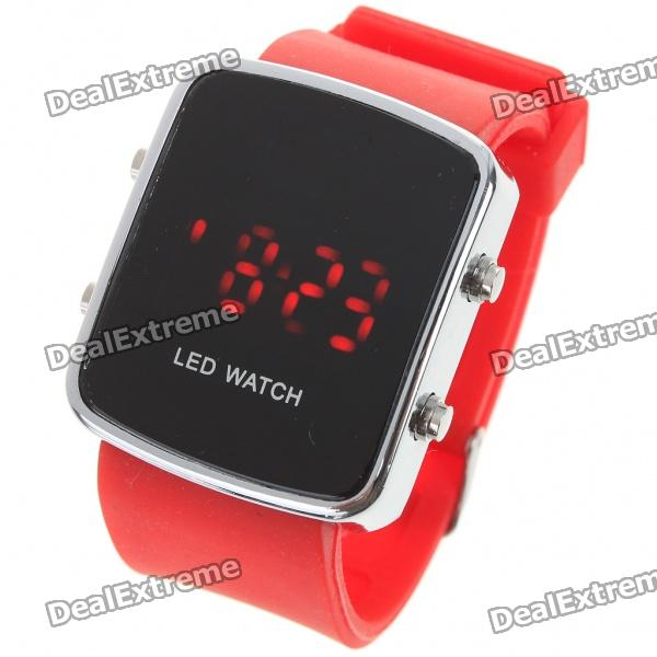 Stylish Digital Red LED Wrist Watch with Date Display - Red (1 x CR2016)